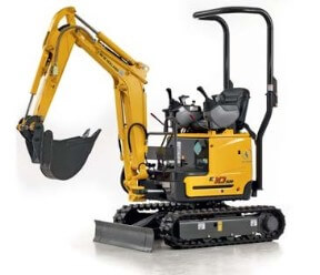 Worcestershire mini excavator plant hire