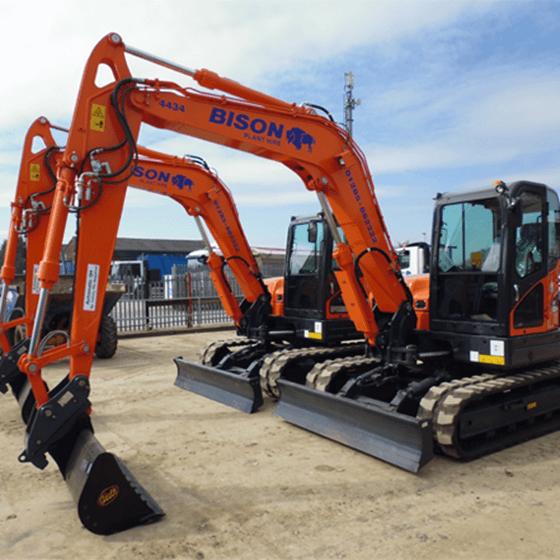 Doosan DX85R-3 midi excavators Bison Plant Hire Swindon Plant Hire
