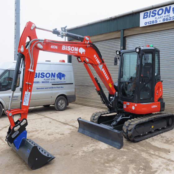 Kubota U55-4 midi excavators Bison Plant Hire Swindon Plant Hire