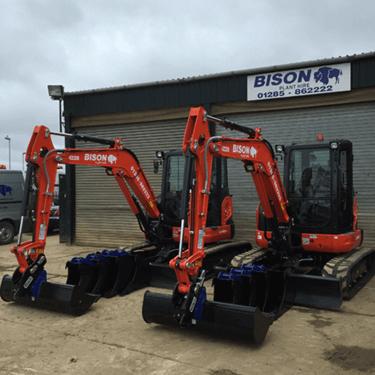 Kubota U48-4 midi excavators Bison Plant Hire Swindon Plant Hire