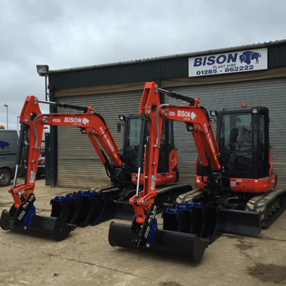 Kubota U48-4 midi excavators Bison Plant Hire Swindon Plant Hire