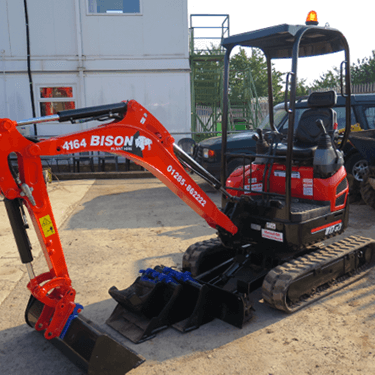 Kubota U17-3 mini excavators Bison Plant Hire Swindon Plant Hire