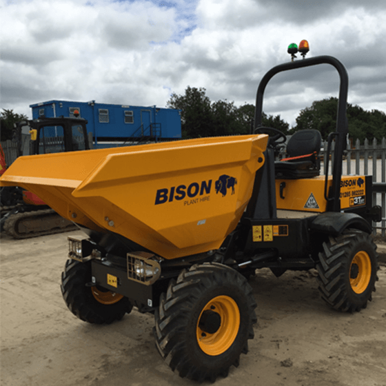 TA 3 Swivel Skip Bison Plant Hire Dumper Hire Swindon Plant Hire