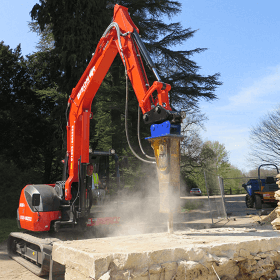 Hydraulic breakers Attachments Bison Plant Hire Swindon Plant Hire