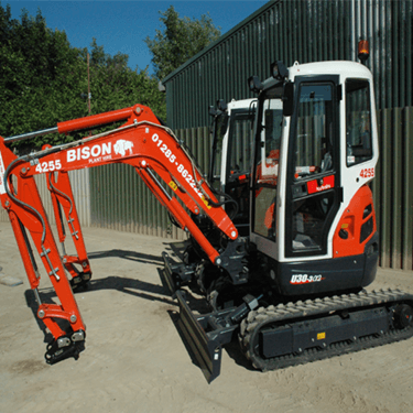 Kubota U30-3 mini excavators Bison Plant Hire Swindon Plant Hire