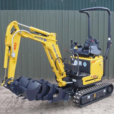 New Holland E10SR micro-excavators Bison Plant Hire