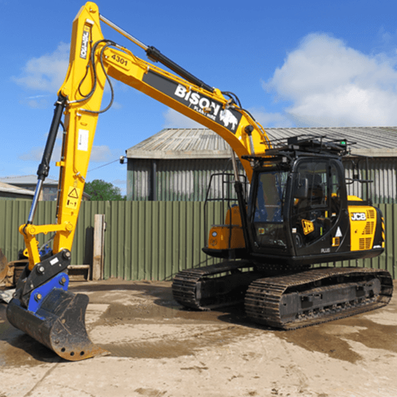 JCB JS130 Plus and JZ140LC Bison Plant Hire tracked excavators Swindon Plant Hire