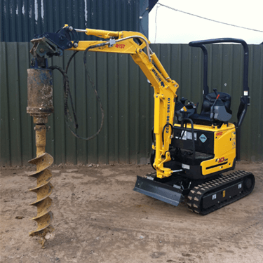 Hydraulic auger excavator fitment Attachments Bison Plant Hire Swindon Plant Hire