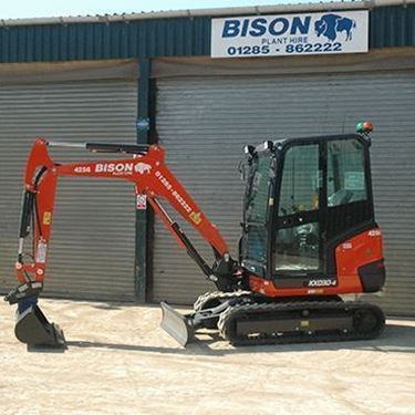 Kubota KX030-4 mini excavators Bison Plant Hire Swindon Plant Hire