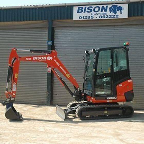Kubota KX030-4 mini excavators Bison Plant Hire Swindon Plant Hire
